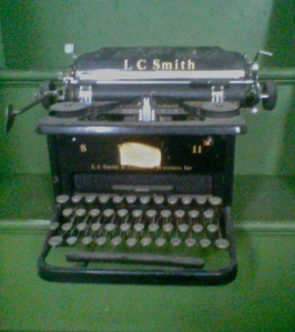 The typewriter I first used as an MD freelance writer and, briefly, as Managing Editor.
