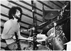 One of Aran Wald's Steve Gadd photos from the October 1978 Modern Drummer.
