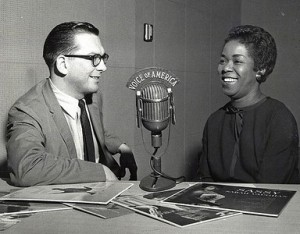 Willis Conover and Sarah Vaughan