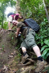 7251086-Climbing-down-a-steep-slope-0