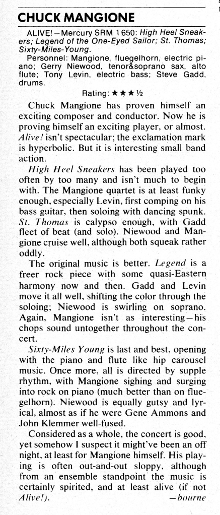 1972 Down Beat Record Review