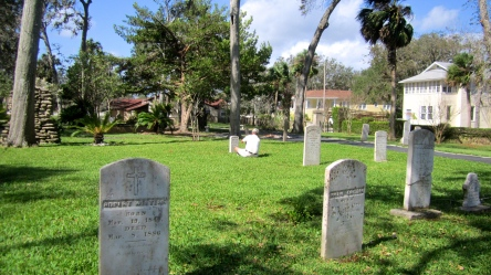 Scott K Fish at Paul Wilson's grave